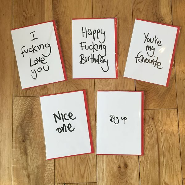 Greeting Card Pack Beans On Toast